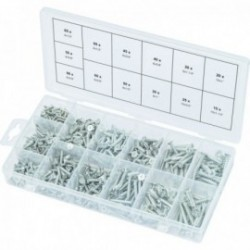 KS TOOLS 970.0430 Assortiment de vis auto-taraudeuses bois, 550 pcs
