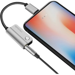 Câble doubleur jack et charge lightning iPhone 7/10