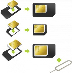 Adaptateur carte SIM (micro, Nano + normal) MUVIT