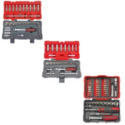 "KS Tools lot de 3 coffrets de douilles 1/4"" 3/8"" 1/2"""