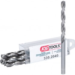 KS TOOLS 330.2040 Lot de 10 forets HSS-G meulés, Ø4,0 mm