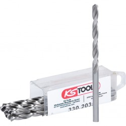 KS TOOLS 330.2035 Lot de 10 forets HSS-G meulés, Ø3,5 mm