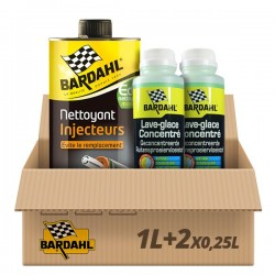 Pack Nettoyant Injecteurs Diesel + 2 Lave glace pomme Bardahl