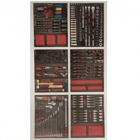 Assortiment d'outils Kraft Completo EVA de 276 pieces