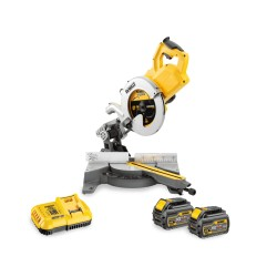 DCS778T2-QW. Scie à onglets radiale XR FLEXVOLT 54V 2Ah Li-Ion Brushless 250mm Dewalt avec 2 batteries