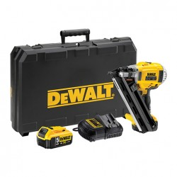 DCN692P2-QW. Cloueur de charpente XR Dewalt 18V 5Ah Li-Ion Brushless  avec 2 batteries en coffret
