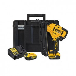 DCN650P2-QW. Cloueur de finition 15Ga XR 18V 5Ah Li-Ion Brushless Dewalt avec 2 batteries