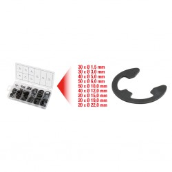 KS TOOLS 970.0110 Assortiments de circlips de type E x300